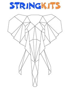 Elephant String Art Template by StringKits on Etsy