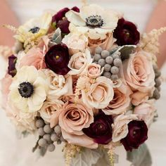 Like the blush and wine colored flowers