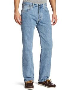 Levi's Men's 501 Original Fit Jean, Light Stonewash, Straight-leg jean featuring five-pocket styling with signature arcuate stitching on rear pocket Leg opening: Sits at waist - Inches rise Modified construction of the front fly to prevent tearing Guess Jeans, Jeans Fit, Mom Jeans, Paige Jeans, Popular Jeans, Fashion Deals, Men's Fashion, S Man, Moda Masculina