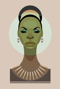 """alwaysbewoke: Nina Simone by Stanley Chow. - alwaysbewoke: """"Nina Simone by Stanley Chow. Nina Simone, Art Et Illustration, Illustrations, Stanley Chow, Jorge Ben, Ligne Claire, Celebrity Caricatures, Celebrity Drawings, Design Graphique"""
