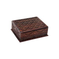 NOVICA Hand Carved Wood Decorative Box Lettuce from Indonesia ($40) ❤ liked on Polyvore featuring home, home decor, small item storage, brown, decor accessories, decorative boxes, wood box, wood home decor, novica and novica home decor
