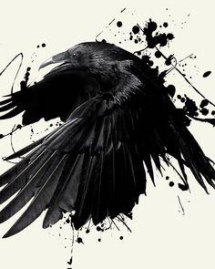 cover up corvo watercolor Crow Art, Raven Art, Daddy Tattoos, Crow Tattoos, Phoenix Tattoos, Ear Tattoos, Sleeve Tattoos, Cover Up Tattoos, Body Art Tattoos