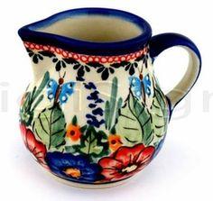 Butterfly Polish Pottery Creamer