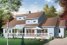 Coastal Contemporary Craftsman House Plan 65470 Elevation