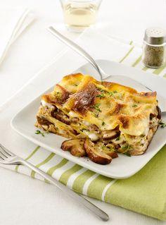 Una pasta al forno sfiziosa dai golosi sapori autunnali? Prova la ricetta delle lasagne con funghi, crescenza e noci: sono facili e veloci da preparare!