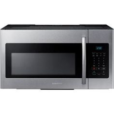 Samsung 30 in. W 1.6 cu. ft. Over the Range Microwave in Stainless Steel-ME16H702SES - The Home Depot