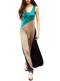 Anni Coco Women's Sleeveless Colorblock Holiday Tank Top Maxi Dresses Anni Coco http://www.amazon.com/dp/B00UYMLQ0W/ref=cm_sw_r_pi_dp_yrDnvb0R2FDFG