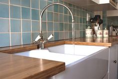 Solid bamboo kitchen counter top