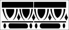 Architrave No 2 stencil from The Stencil Library ARCHITECTURE range. Stencils Online, Library Architecture, Laser Cut Metal, Architrave, Stencil Patterns, Silhouette Portrait, Lace Border, Metal Art, Screen Printing