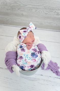 Baby swaddle   floral swaddle   newborn swaddle blanket   girl swaddle   swaddle  set   headband OR beanie 5c4dfba1b152
