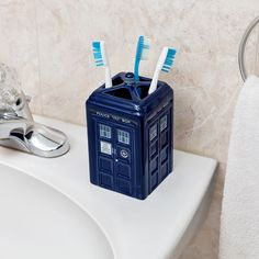 Doctor Who Toothbrush Holder - Take My Paycheck - Shut up and take my money! | The coolest gadgets, electronics, geeky stuff, and more!
