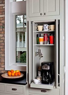 30 Relatively Simple Things To Make Your Home More Awesome – There's no point in placing appliances on the kitchen counter, hide them inside sliding doors - See more at: http://theawesomedaily.com/30-relatively-simple-things-to-make-your-home-more-awesome/#sthash.c4yGZqoi.dpuf