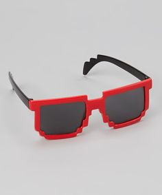 Look at this Red Pixel Sunglasses on #zulily today!