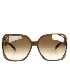 Gucci Womens Brown Bamboo Arm Oversize Sunglasses ($375) ❤ liked on Polyvore