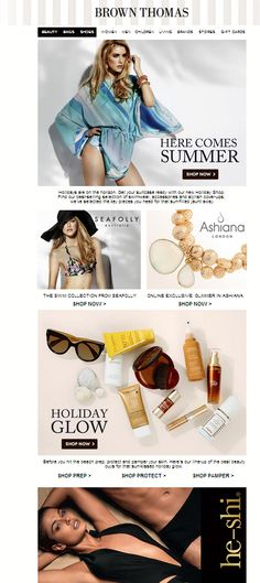 539b8f2f7e56 Summer campaign featuring summer holiday related products. Keep your  content relevant.  emailmarketing