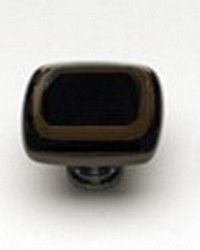 Sietto Glass Cabinet Knobs Stratum Woodland and Black