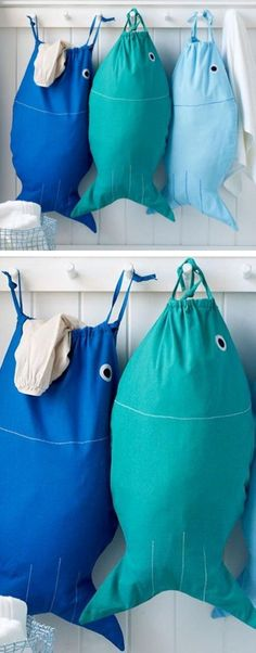 Bait & Hook Laundry or Beach Bag