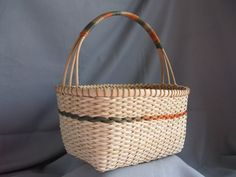 Handmade Braidweave Knitting Basket - I like the way the handle was done