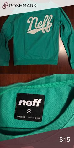 Teal Neff Crewneck Sweatshirt Worn a couple times. Thinner than normal sweatshirt material but cozy and relaxed. Feel free to make an offer. :) PacSun Tops Sweatshirts & Hoodies