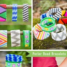 Bracelet Bead Stringing Tutorial with cool geometric designs from Craft and Creativity
