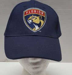 0af706f1bc5 NHL Florida Panthers Blue Strapback Hat Cap One Size Hockey Emblem   Unbranded  FloridaPanthers Strapback