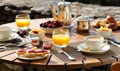 #Hotel Le Mas des Herbes Blanches 5 étoiles, Relais & Châteaux, Lubéron - Provence #France (Maranatha Hotels) - Petit déjeuner | Breakfast