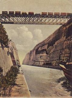 Great things to do in Corinth Greece Corinth Greece, Corinth Canal, Old Pictures, Old Photos, Stuff To Do, Things To Do, Picture Postcards, Covered Bridges, Old City