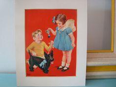 Adorable Vintage 1940s Frances Tipton Hunter Print Titled THE PRIZE ...