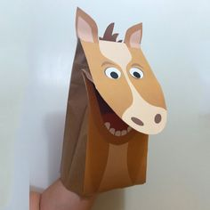 How to make a Donkey Paper bag Puppet? | 236x236