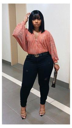 Date Night Outfit Curvy, Night Outfits, Classy Outfits, Chic Outfits, Fashion Outfits, Thick Girl Fashion, Curvy Women Fashion, Look Fashion, Plus Size Fashion