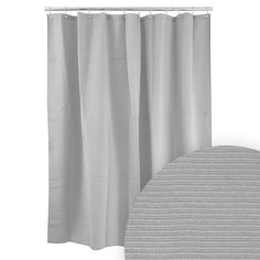 Harman Grey Ribbed Shower Curtain