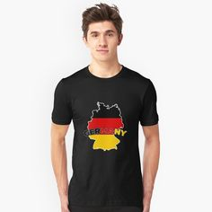 """""""Germany Map"""" Slim Fit T-Shirt by favorite-shirt Germany Shirt, Funny Design, Tshirt Colors, Classic T Shirts, Heather Grey, Shirt Designs, Slim, Tees, Orchid"""