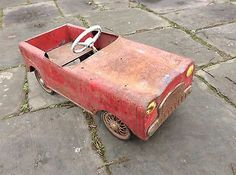 Super Rare Metal Tin Child's Pedal Car Barn Find - http://classiccarsunder1000.com/archives/20099