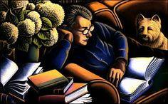 """Bibliophile"", 1999 / Bascove (b. 1946)"