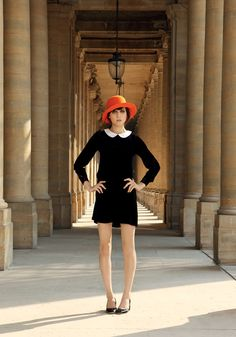 mademoiselle tara fall 2011—love the dress and the cute hat