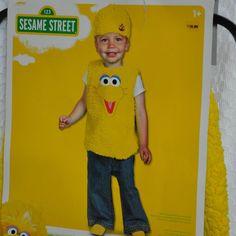 Big Bird Costume Toddler Kids 12-18 Months Pullover Vest & Hat New #Disguise #Vest