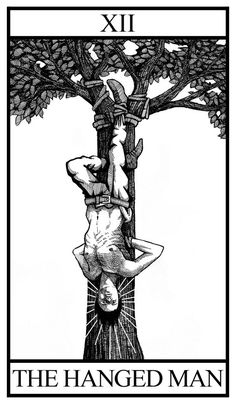 Black and White Tarot Deck Major Arcana on Behance Hanged Man Tarot, The Hanged Man, Tarot Cards Major Arcana, Tarot Card Tattoo, Tattoo L, Tarot Astrology, Tarot Decks, Occult, Dark Art