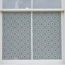 Fes glass film design for street facing windows