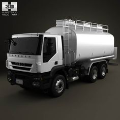 Iveco Trakker Fuel Tank Truck 3-axis 2012 3d model from humster3d.com. Price: $75
