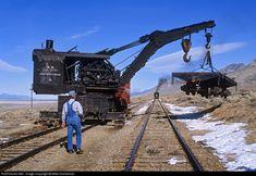 RailPictures.Net Photo: NN Wrecking Crane A Nevada Northern Railway Steam wrecking crane at Ely, Nevada by Mike Danneman