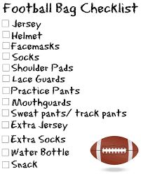 Image result for whats in my football bag