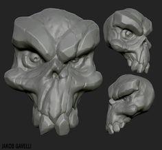ArtStation - Daily Practise - Darksiders skull, Jakob Gavelli