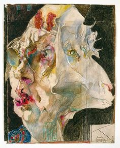 Self Portrait Horst Janssen Horst-Janssen-Museum Art And Illustration, Illustrations Posters, Life Drawing, Painting & Drawing, Horst Janssen, Absinthe, Unusual Art, Collaborative Art, Gravure