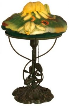 Pairpoint Puffy Yellow Lotus Table Lamp $5,750