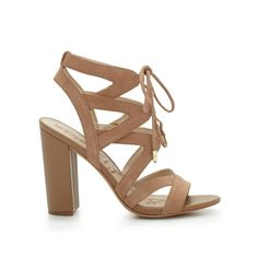 Sexy cutout lace-up sandals feature a croco-embossed stacked heel for day-to-night comfort. Wear the Yardley with distressed denim and a sharp blazer for Cali-inspired chic.Material: SuedeHeel height: 4 in
