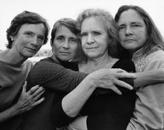 Nicholas Nixon shoots 37 Years Of The Brown Sisters. Four Sisters Photographed Annually From 1975 - 2012.