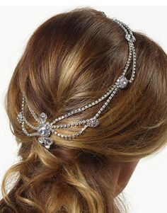 This stunning hair jewellery features diamonds and Strass stones, on a silver chain, and is designed to fit comfortably on the back of the Brides hair.    Wedding acessory shop in Hadleigh, Essex. Home of bridal accessories. Everything but the dress!     #wedding #bride #hairaccessories #hairjewellery #silverhairjewellery #crystalhairjewellery