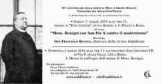 NON POSSUMUS: RESOCONTO DELLA CONFERENZA SU MONSIGNOR BENIGNI, P...