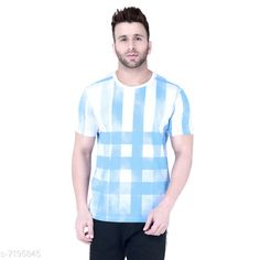 Tshirts Men's Round Neck Blue Printed White Tshirt Fabric: Cotton Sleeve Length: Short Sleeves Pattern: Printed Multipack: 1 Sizes: S (Chest Size: 39 in Length Size: 27.5 in)  XL (Chest Size: 45 in Length Size: 29 in)  L (Chest Size: 43 in Length Size: 28.5 in)  M (Chest Size: 41 in Length Size: 28 in)  XXL (Chest Size: 47 in Length Size: 29.5 in) Country of Origin: India Sizes Available: S, M, L, XL, XXL   Catalog Rating: ★4.2 (501)  Catalog Name: Trendy Elegant Men Tshirts CatalogID_1148540 C70-SC1205 Code: 323-7195845-999