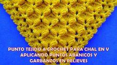 Punto para chal triangular, en V o en punta tejido a crochet paso a paso...